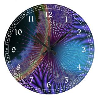 Looking Inward - Amethyst & Azure Mystery Round Wall Clock