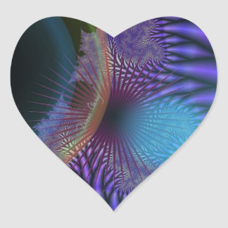 Looking Inward - Amethyst & Azure Mystery Heart Sticker