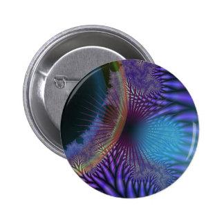 Looking Inward - Amethyst & Azure Mystery Pinback Button