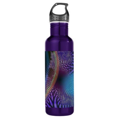 Looking Inward - Amethyst & Azure Mystery Stainless Steel Water Bottle