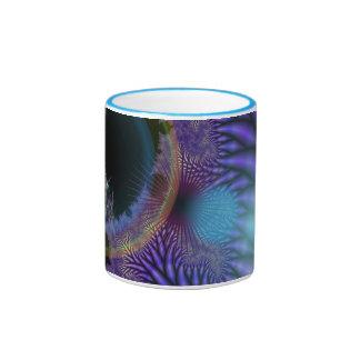 Looking Inward - Black & Azure Mystery Coffee Mug
