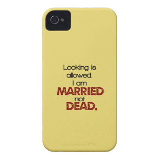 Looking Is Allowed, I'm Married Not Dead iPhone 4 Cover