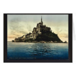 Looking northeast at high water, Mont St. Michel, Greeting Card