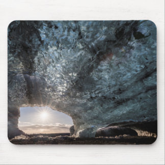 Looking out an ice cave, Iceland Mouse Pad