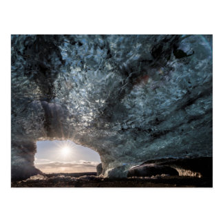Looking out an ice cave, Iceland Postcard