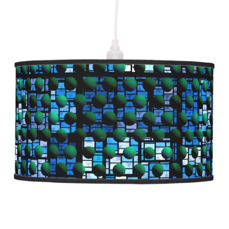 Looking out at Night, Abstract Venture Adventure Hanging Lamp