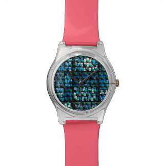 Looking out at Night, Abstract Venture Adventure Wrist Watch