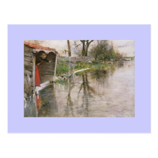 Looking Out at the Canal Postcard