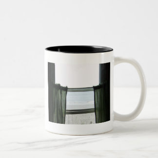 Looking Out At The Sea Two-Tone Coffee Mug
