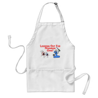 Looking Out For Number One Aprons
