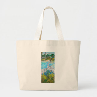 Looking Out My Back Door Large Tote Bag