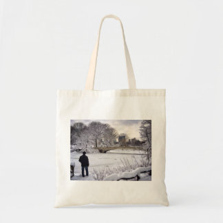 Looking Out Over A Frozen Pond Tote Bag