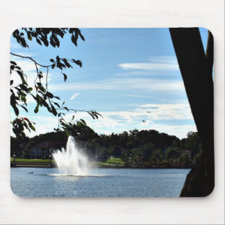 Looking Out Over the Lake Mousepad