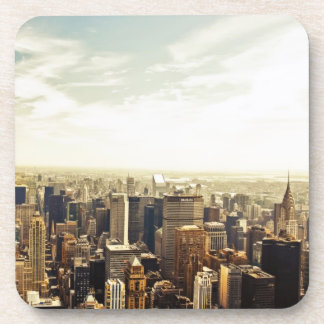 Looking Out Over the New York City Skyline Drink Coaster