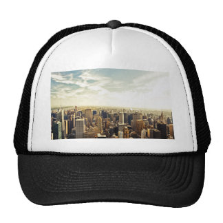 Looking Out Over the New York City Skyline Hats