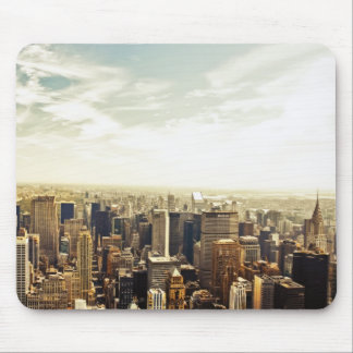 Looking Out Over the New York City Skyline Mouse Pad