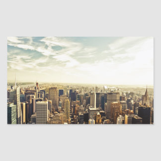 Looking Out Over the New York City Skyline Rectangular Sticker