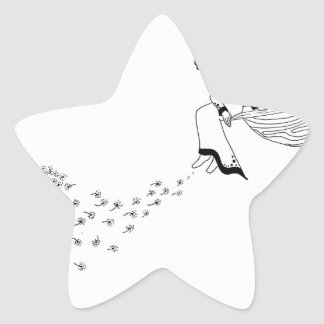 Looking Out Star Sticker