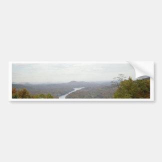 Looking Over Chimney Rock Car Bumper Sticker