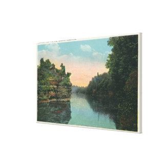 Looking over the Ashokan Reservoir Dam Gallery Wrapped Canvas