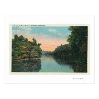 Looking over the Ashokan Reservoir Dam Postcards
