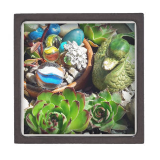Looking Pretty Duck and Succulent Plants Jewelry Box