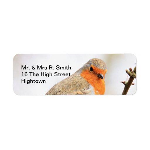 Looking Robin Profile Return Address Label