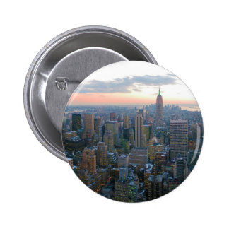 Looking South from Top of the Rock New York City 2 Inch Round Button