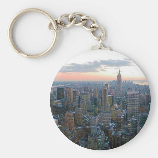 Looking South from Top of the Rock New York City Keychain