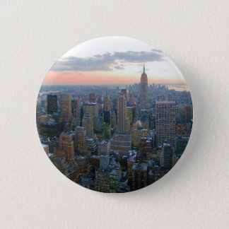 Looking South from Top of the Rock New York City Pinback Button
