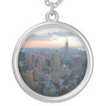Looking South from Top of the Rock New York City Round Pendant Necklace