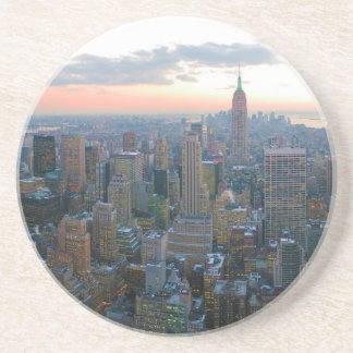 Looking South from Top of the Rock New York City Sandstone Coaster