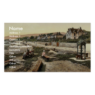 Looking south, Kirn, Scotland classic Photochrom Business Cards
