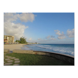 Looking South Near Sunset - Barbados Poster