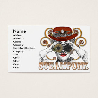 looking steampunked steampunk collage art business card