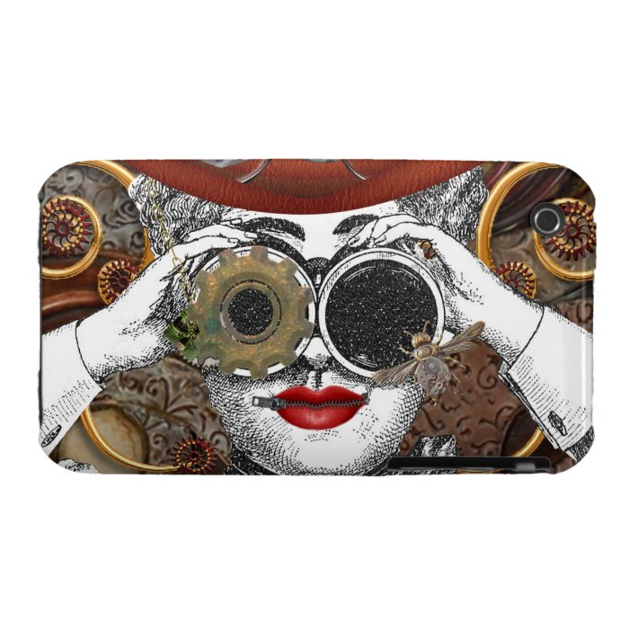 looking steampunked steampunk collage art Case-Mate iPhone 3 case