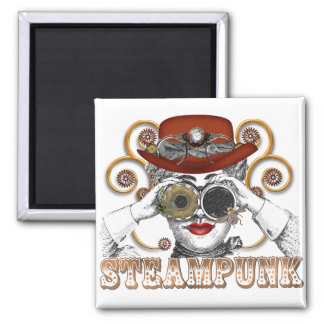 looking steampunked steampunk collage art magnet