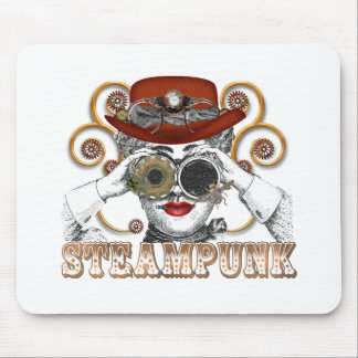 looking steampunked steampunk collage art mouse pad