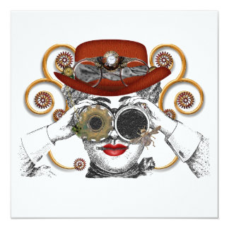 looking steampunked steampunk dude card