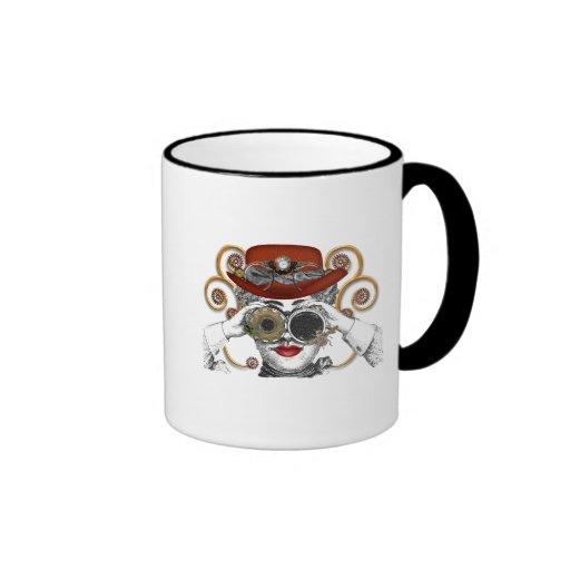 looking steampunked steampunk dude coffee mug