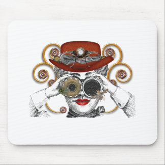 looking steampunked steampunk dude mouse pad