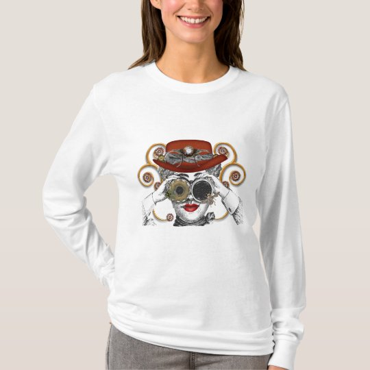 looking steampunked steampunk dude T-Shirt