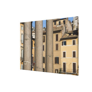 Looking through columns of the Pantheon with Canvas Print