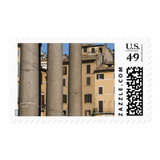 Looking through columns of the Pantheon with Postage Stamp