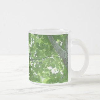 Looking through the Treetops 10 Oz Frosted Glass Coffee Mug