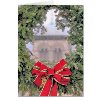 Looking through the wreath card