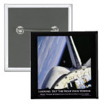 Looking Thru Rear View Mirror From Space Shuttle Pin