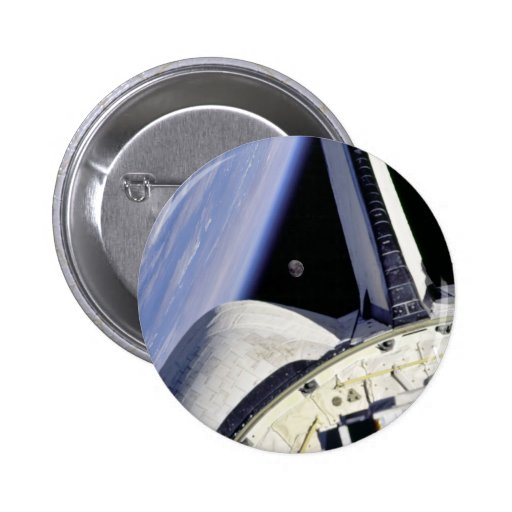 Looking Thru Rear View Mirror From Space Shuttle Buttons