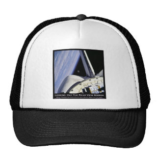 Looking Thru Rear View Mirror From Space Shuttle Mesh Hat