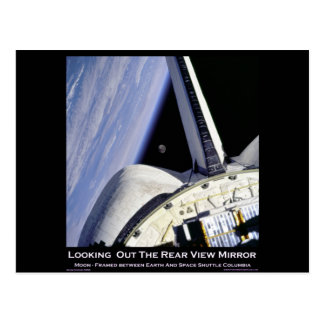 Looking Thru Rear View Mirror From Space Shuttle Post Cards